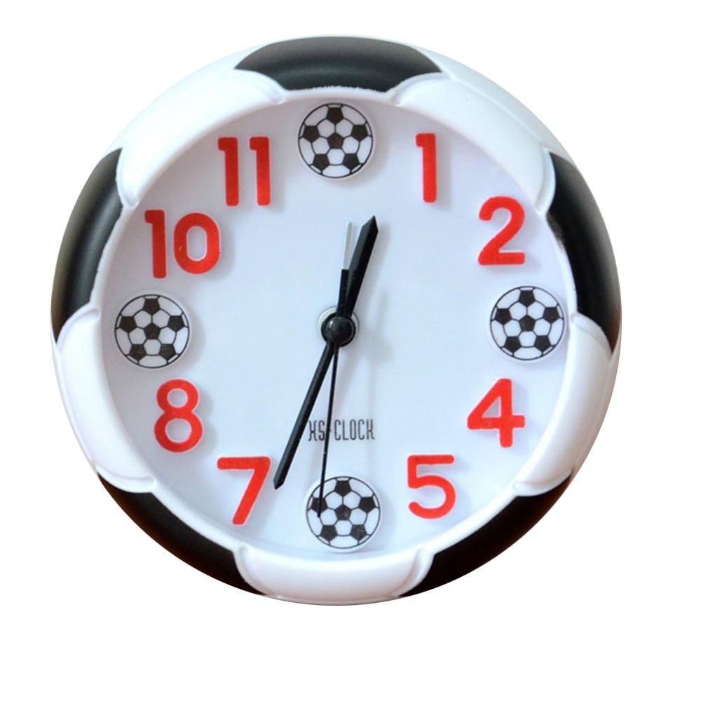 Soccer Ball Gift Football Club Decoration Alarm Clock Digital Pointer World Cup Gift Football Ball Shaped Sports Desktop Decor