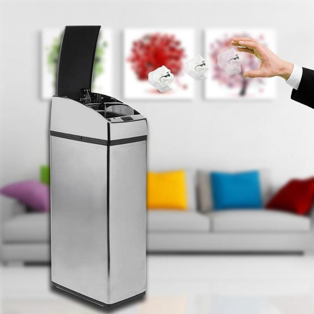 3/4/6L Automatic IR Smart Sensor Dustbin Trash Can 3 Colors Induction Household Waste Smart Bin Household Merchandises Useful enlarge