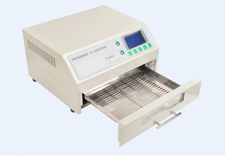 PUHUI T962  Reflow Equipment T-962 Infrared Reflow Oven Furnace IC Heater BGA Rework Station 220V