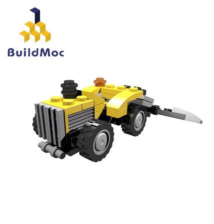 BuildMoc ciudad bosque Tractor figura caminando Tractor camión bloques de construcción de ladrillos juguetes educativos para niños