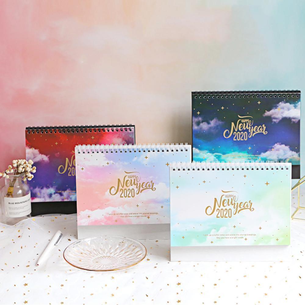 2020 мечтательный красочный настольный календарь стоящий милый бумажный памятка