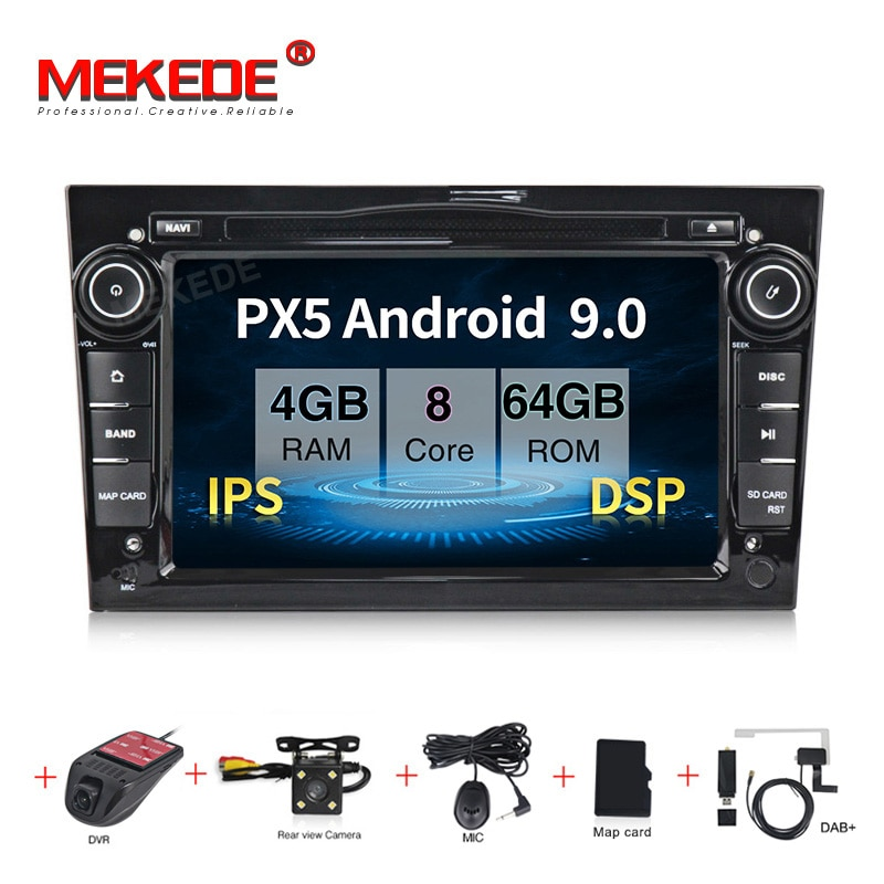 "Android 9.0  Octa Core 4G RAM 64G ROM GPS Navi 9"" Car DVD Multimedia for opel Vauxhall Astra H G J Vectra Antara Zafira Corsa"