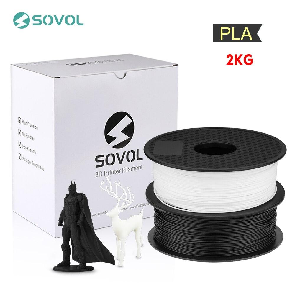 2 KG/lot Sovol 3D imprimante Filament 1.75mm PLA Filament 3D stylo dimpression matériel précision dimensionnelle +/- 0.02mm Impresora 3D