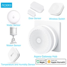 Aqara Smart Home Kits Aqara Hub Deur Raam Sensor Menselijk Lichaam Wandschakelaar Hu Mi Dity Water Sensor Twee-manier Module Werken Met Mi Thuis