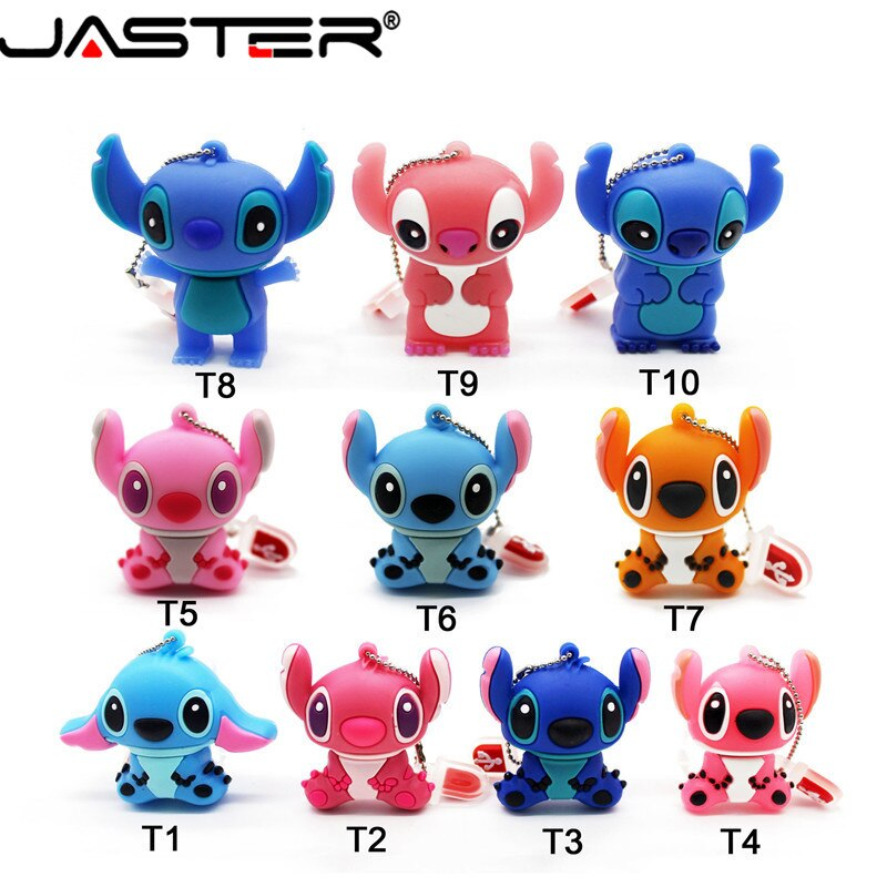 Unidad flash USB JASTER Stitch de 64GB, 32GB, 16GB, 8GB, 4GB, memoria USB original de dibujos animados
