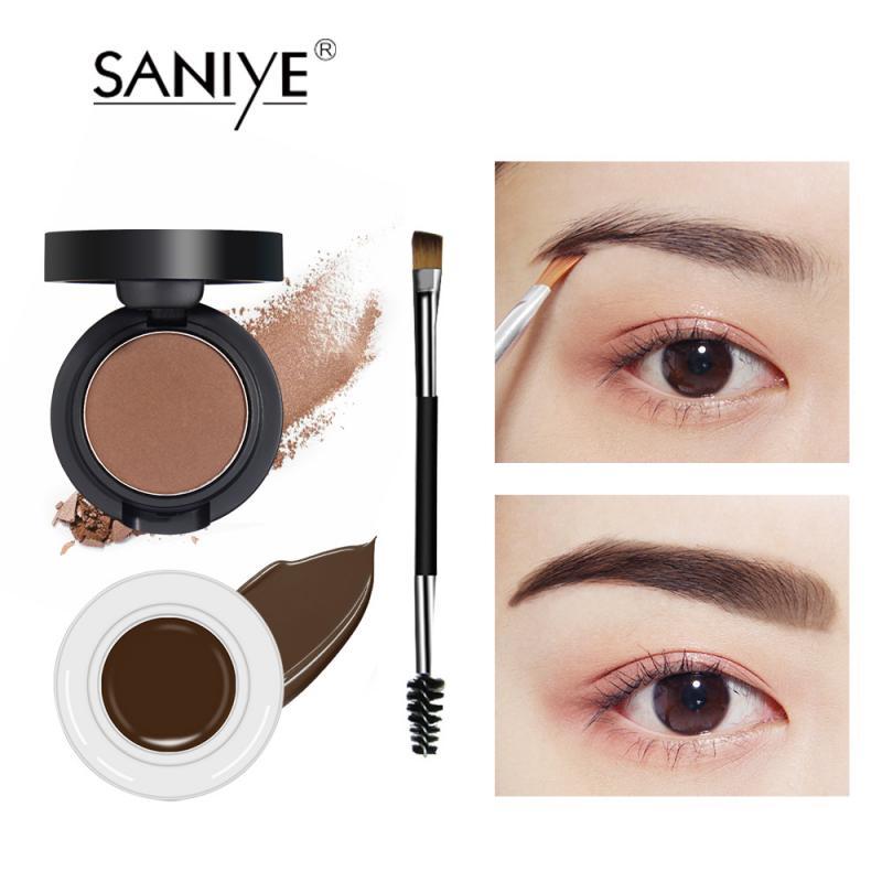 5 Colors Eyebrow Cream With Eyebrow Brush Natural Long Lasting Waterproof Quick-drying Eyebrow Enhancers недорого