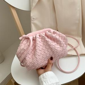 New 2020 Female Bag Leather Cloud Bag Ladies Fashion Clutch Handbag Soft Leather Dumpling Hobo Shoulder Bag Purse