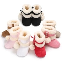 winter snow boots for newborn baby girls booties keep warm plush inside anti slip baby infant toddler cute soft bottom shoes