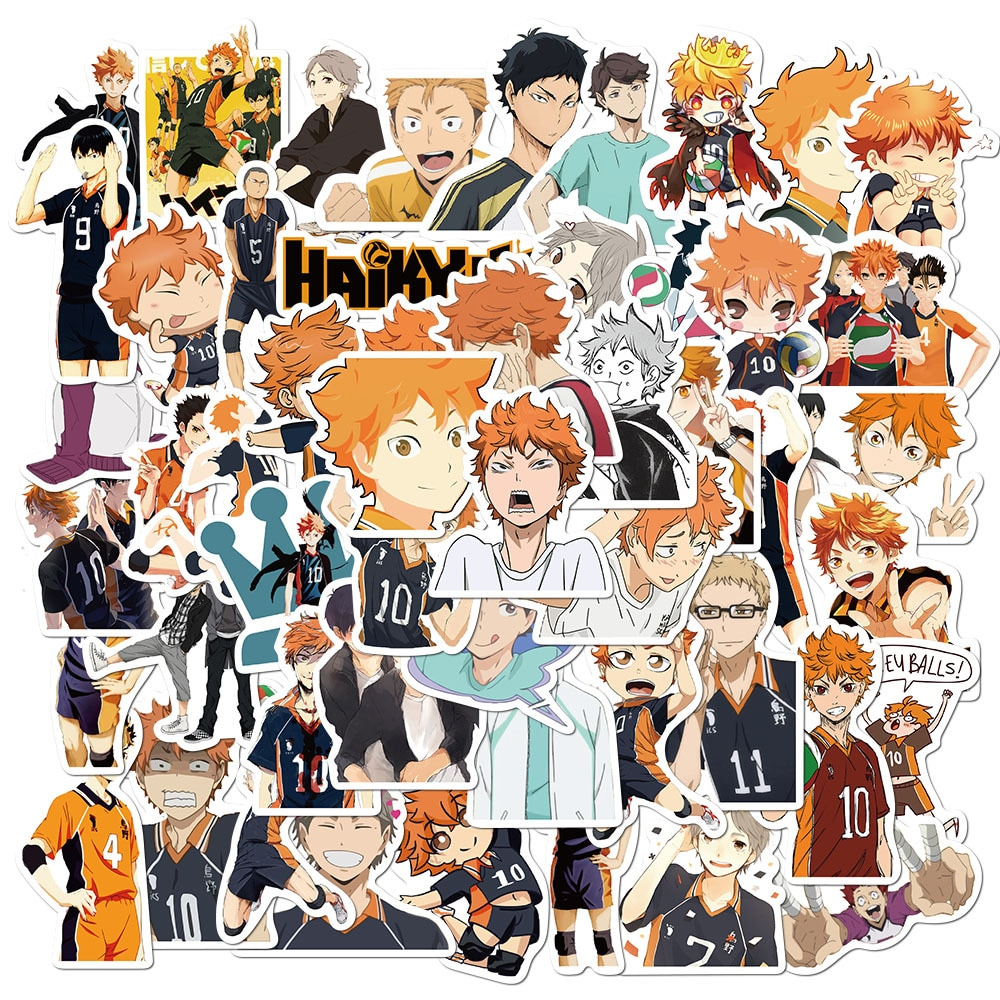 AliExpress - 50PCS Anime Haikyuu!! Stickers Pack For DIY Laptop Phone Guitar Suitcase Skateboard PS4 Toy Volleyball Teenager Haikyuu Sticker