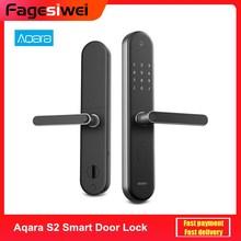 Aqara S2 Door Lock Smart Fingerprint Digital Touch Screen Keyless Lock Smart Home App Control Adjustable Right/Left Hand