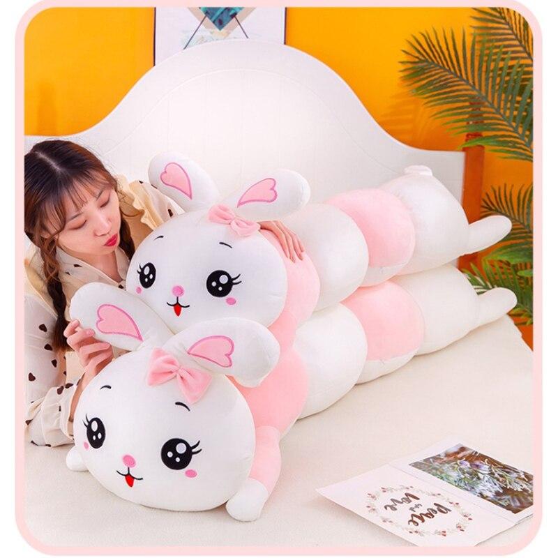 Симпатичные плюшевые игрушки, подушка, мягкая набивная подушка в виде животного, кролик, милые куклы, подарки для девочек