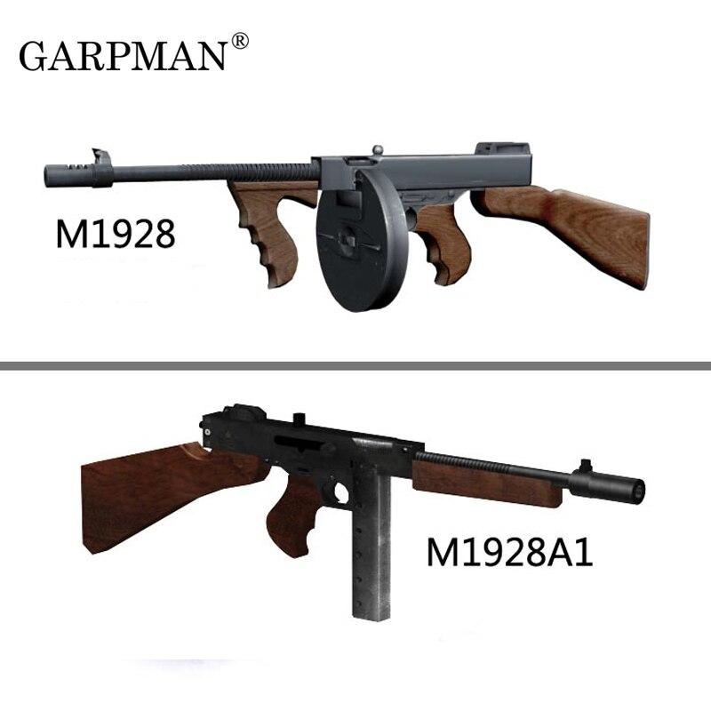 1:1 pistola Thompson M1928 Manual DIY modelo de papel 3D