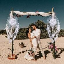 Nouvelle décoration de mariage créative   Ornements de maison tissés à la main, attrape-rêve nordique, cadeau de petite amie et petite amie