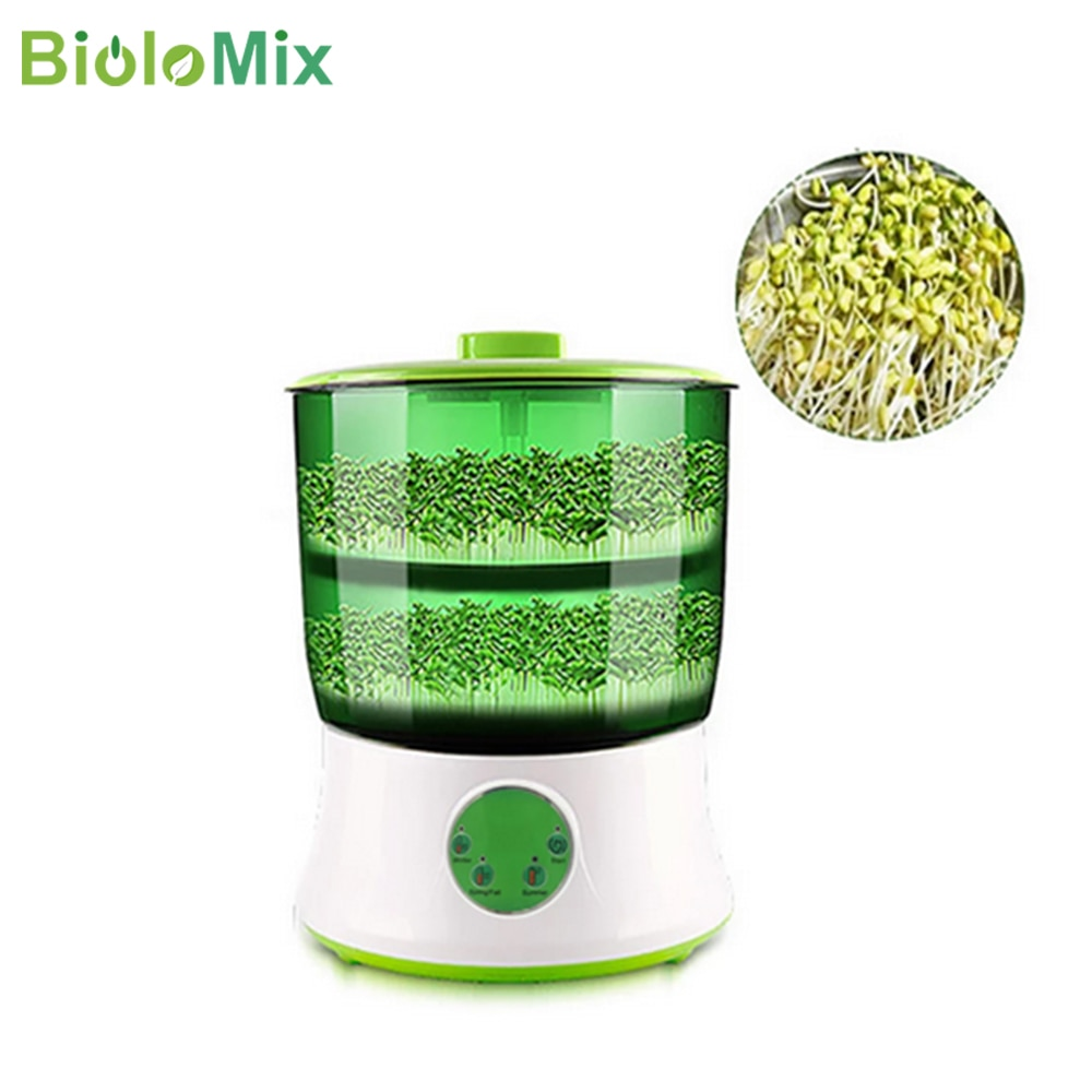 Biolomix-آلة براعم الفاصوليا المنزلية ، ترقية ذكية ذات سعة كبيرة ، ترموستات بذور خضراء تنمو ، آلة تنبت أوتوماتيكية