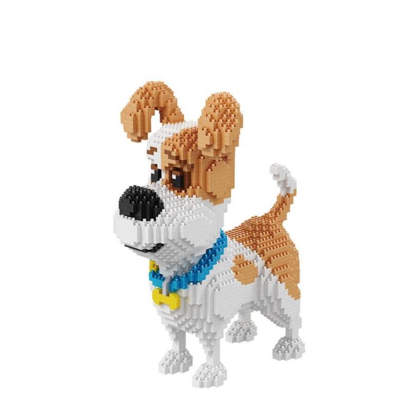 2100 шт. 16014 из мультфильма, популярная яркая детская одежда с рисунком собаки мини Хаски модель сборки блок кирпичное здание, игрушки для дете...