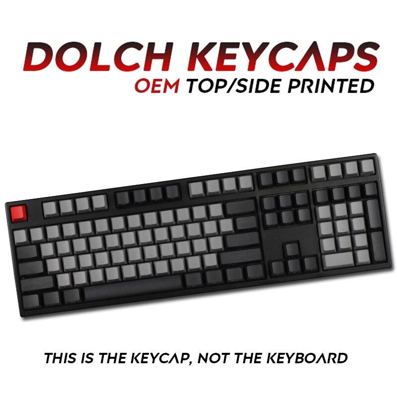 108 клавиш Pbt Dolch Keycap Top/side Printed для механической клавиатуры полный набор Dolch Keycaps ключи Corsair Bfilco Minila