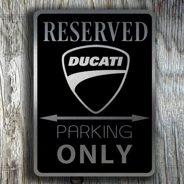 Жестяная ретро-картина, винтажная картина Ducati, только стоянка, Жестяная Табличка, ретро металлический знак, металлический постер, металличе...