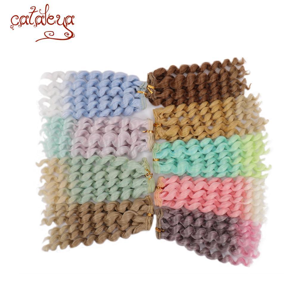 Cataleya Bjd doll DIY curly hair wig high temperature silk in a variety of colors 15 * 100 cm hair bjd doll