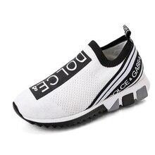 Été Ms baskets lettre chaussette chaussures taille compensées hauteur augmentant épaisse semelle plate-forme Ms chaussures de course chaussures vulcanisées