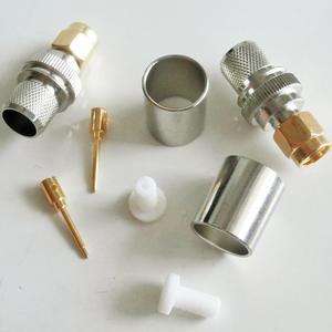 10X Pcs RF Coax Connector SMA Male Jack Crimp for LMR400 RG8 RG213 RG214 RG165 7D-FB Cable Plug SMA Gold Plated High-quality