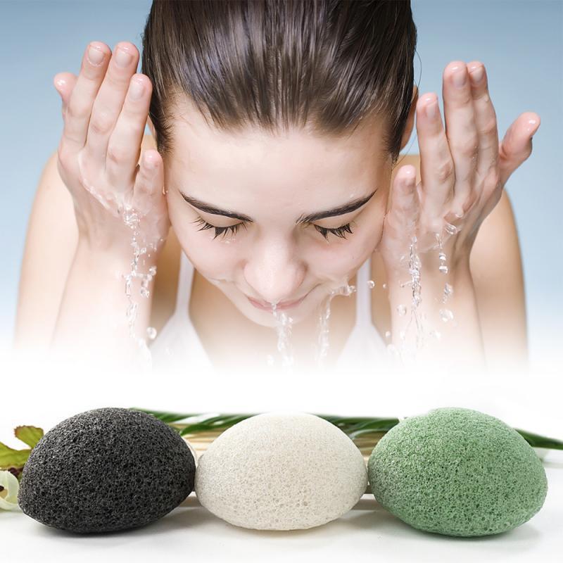 3 цвета, косметический спонж Конняку, глубокое мытье кожи, массаж круглой формы, губка для отшелушивания, очищение лица, скраб для мытья, уход...