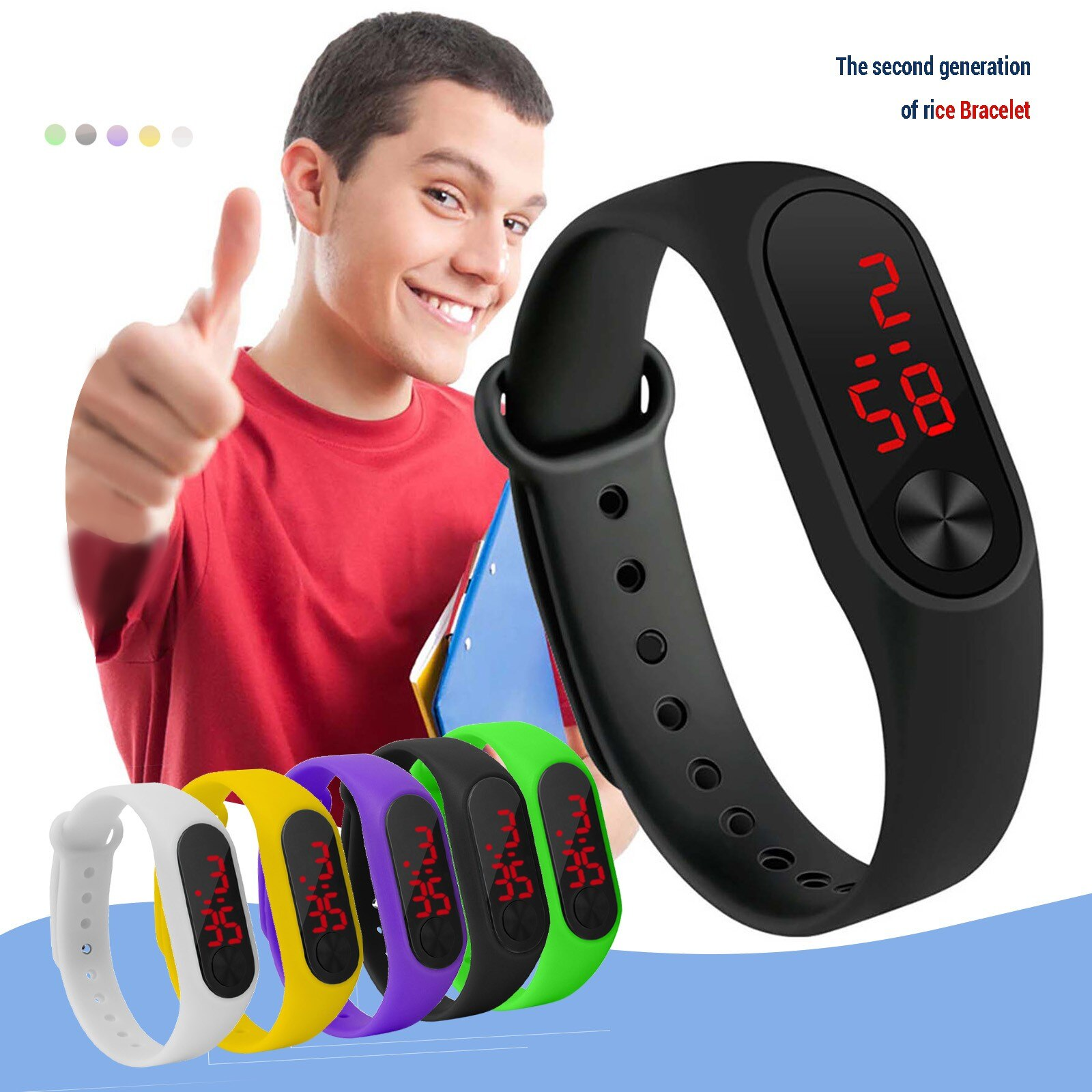 Smart Band Watch Men Women Smartwatch Heart Rate Sports Fitness Tracking Bracelet For Apple Xiaomi R