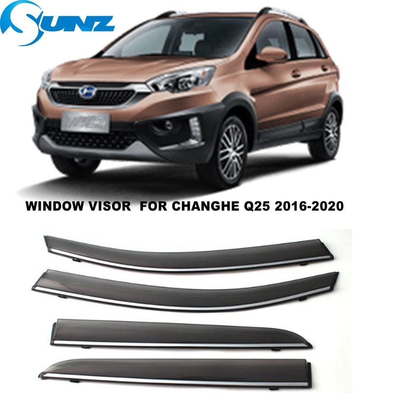Side Window Visor For Changhe Q25 2016 2017 2018 2019 Smoke Sun Rain Deflectors Window Rain Guards SUNZ