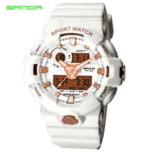 SANDA Fashion Army LED Digital Men Watch Back Light Waterproof Sports Wristwatch Outdoor Clock Male Style Automatic Watches 770