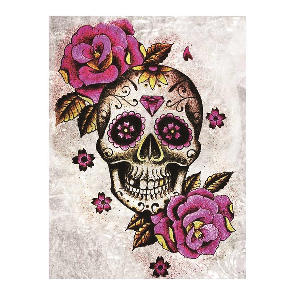 Pintura diamante do dia das bruxas crânio roxo rosa redonda completo broca nouveaute diy mosaico bordado 5d ponto cruz casa decoração presentes