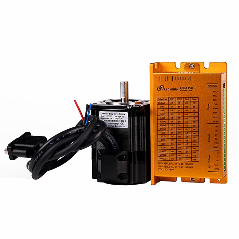Kit de controlador de motor de servo paso a paso cnc con codificador LCDA357H y LC57H355 LC57H380 LC57H3100 para cnc