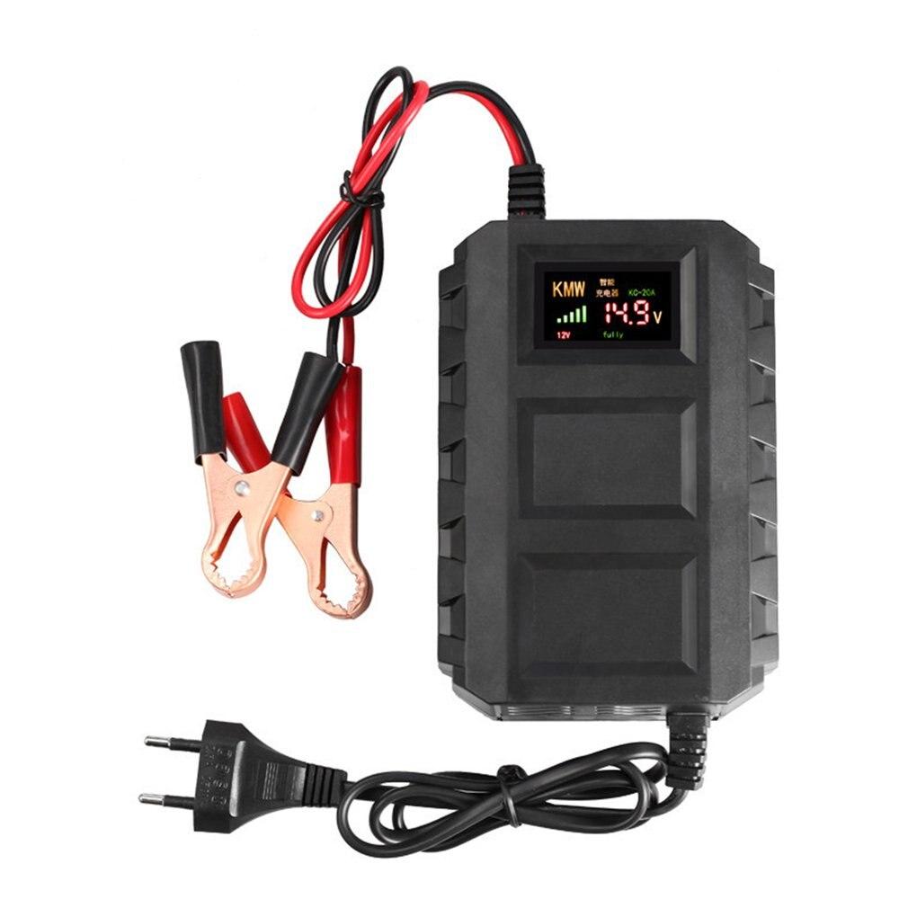Carregador de bateria acidificada ao chumbo inteligente das baterias do automóvel 12 v com display led para a motocicleta do carro do automóvel conduzida