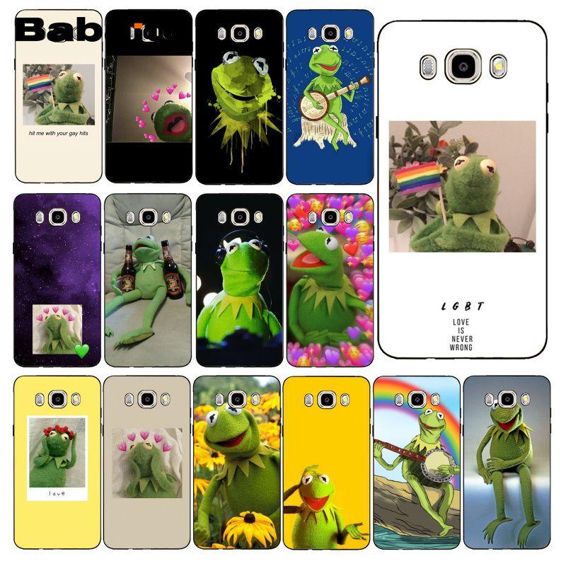 Babaite Kermit the Green frog Funny Cute Gay Coque Phone Case For Samsung Galaxy J7 J6 J8 J4 J4Plus J7 DUO J7NEO J2 J5 Prime