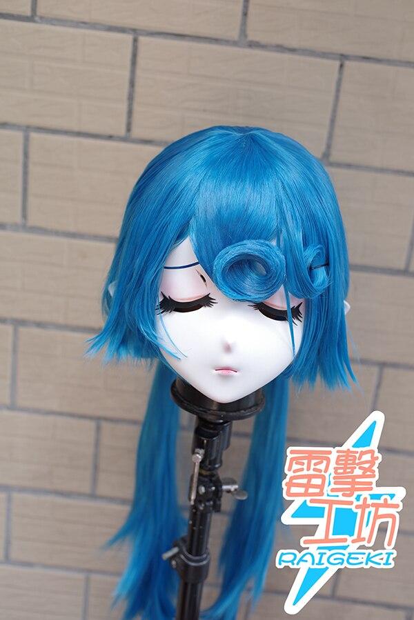 (RAIGEKI MAKS 57) Resin 3/4 Head Female/Girl Kigurumi Anime Cosplay Masks Crossdress Japan Role Lolita Crossdresser DOLL BJD Cos