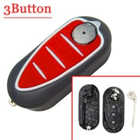 XNRKEY Good Quality 3 Button Remote Blank Key Shell Case Flip Key For Alfa Romeo Mito Giulietta 159 GTA Case