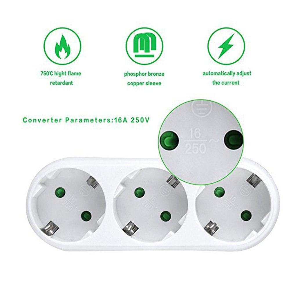 Convertidor de enchufe un giro múltiples dos o tres agujeros adaptador de expansión multifunción enchufe de conversión de energía enchufe eléctrico 16A