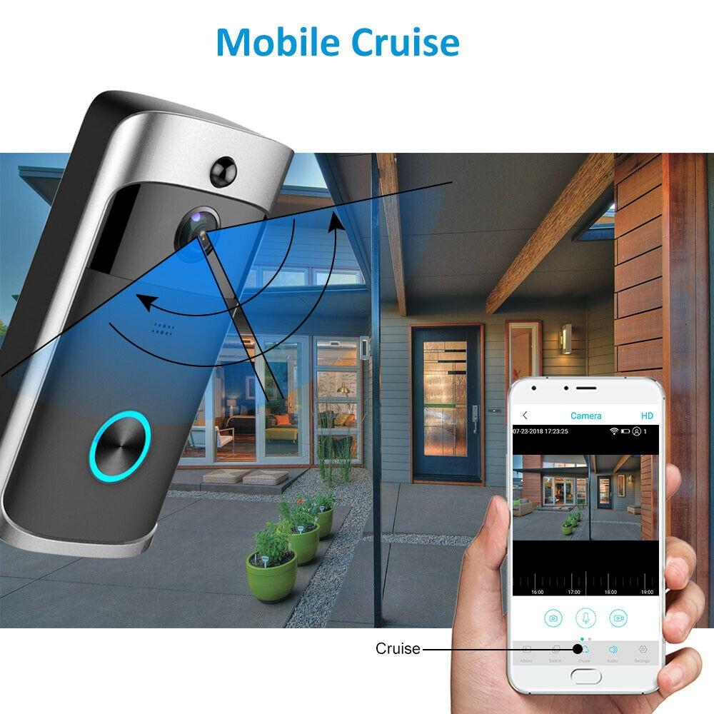 Smart Video Doorbell Camera Wifi Wireless Call Intercom Video-Eye Home Door Bell Ring Phone Security Camera Night Vision Doorbel enlarge