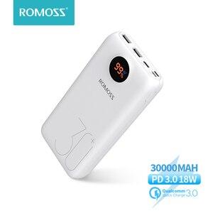 ROMOSS SW30 Pro Power Bank 30000mAh Повербанк QC PD 3,0 Быстрая зарядка Повербанк 30000 мАч портативное Внешние аккумуляторы для Xiaomi Mi  iPhone 12 Pro Смартфоны