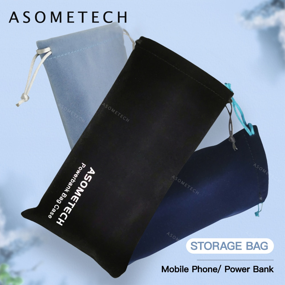 Power Bank Case Bag Carring Pouch Drawstring Bag Travel Portable Protective Storage Bag For Power Ba