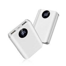 Mini Power Bank 10000 MA pantalla Dual salida móvil potencia Universal pequeño regalo