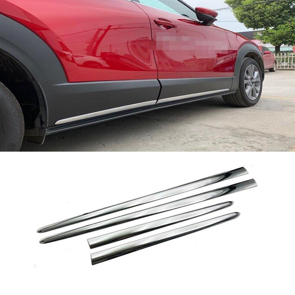 Accesorios para el coche, estilo para Mazda Cx-30 Cx30 2020 2021, moldura lateral para carrocería, puerta, faldón lateral, moldura adhesiva embellecedora