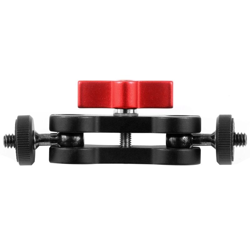 Aluminum alloy Multi-Function Dual Ball Head Hot Shoe 1/4 inch Tripod Magic Arm Mount Adapter DSLR Camera Accessory for Monitor