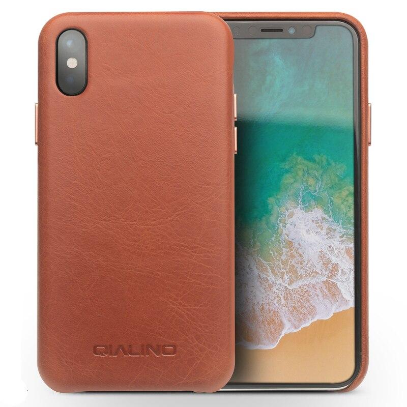 Para o iphone x xr escritório couro genuíno caso de volta iphone7 8 negócios couro caso do telefone magro capa traseira para o iphone xs max