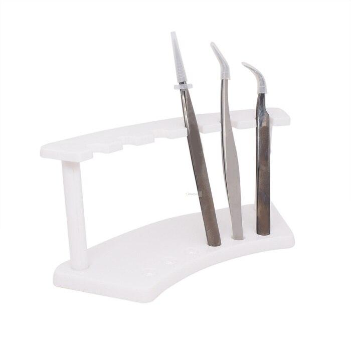 1 pieza de soporte para pinzas de pestañas clip para pestañas estante de almacenamiento organizador soporte para pestañas extensión de pestañas herramientas de maquillaje