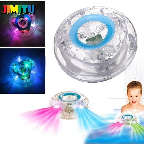 Juguetes de destello de luz LED de baño para bebés JIMITU, colorida cambiante, divertidos, impermeables en bañera, los mejores juguetes de regalo para niños
