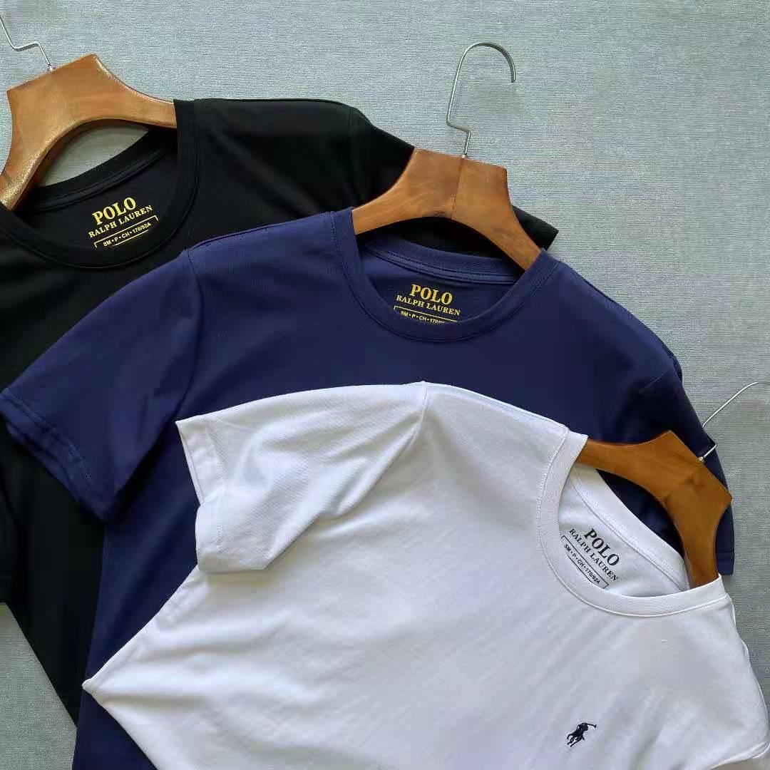 Polos de Color sólido para hombre, camiseta informal de manga corta de...