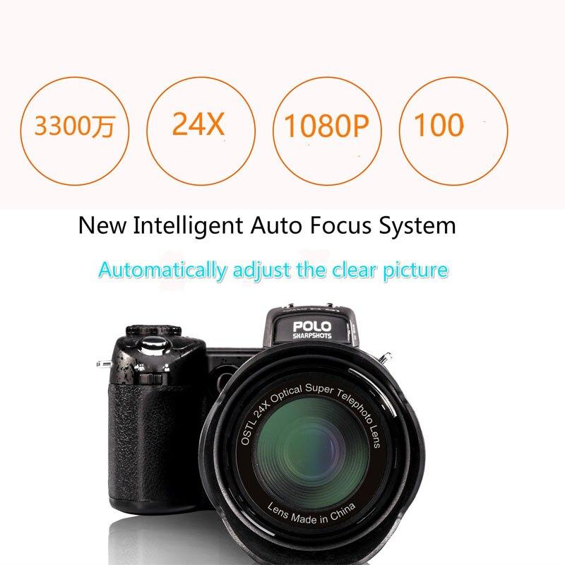 Cámara Digital PROTAX D7100, 33.0mp, FHD, DSLR, teleobjetivo semiprofesional 24x, gran angular, conjuntos de lentes, cámaras con zoom Digital 8X