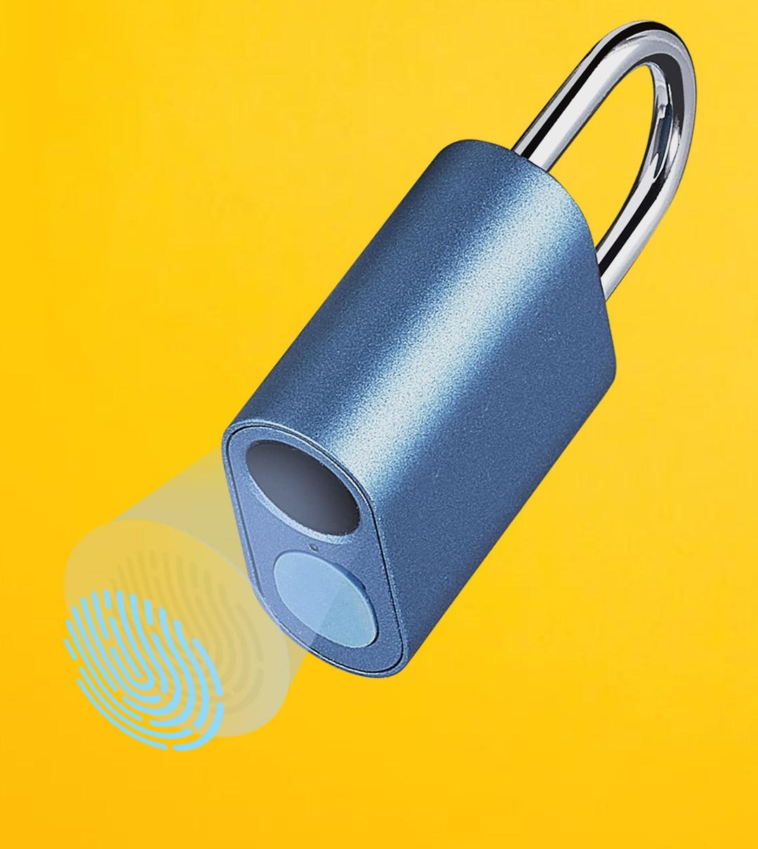 NEW XIAOMI Noc Loc Smart Fingerprint Padlock USB Rechargeable IPX7 Waterproof Mini Portable Intelligent Lock Finger Print Unlock