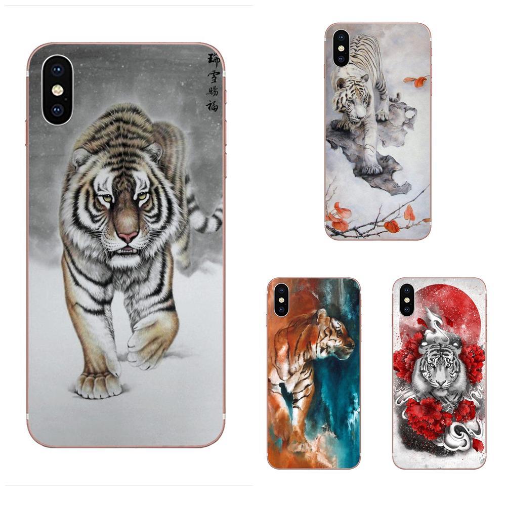 Pintura china Tigre híbrido para LG G3 G4 G5 G6 G7 K4 K7 K8 K10 K40 K50 Q6 Q60 V10 V20 V30 V40 Nexus 5 5X 2017