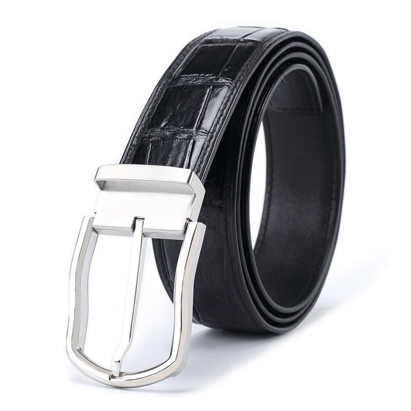 جلد التمساح أحزمة وسط رجل الأعمال رجل مصمم حزام الفاخرة ل السراويل السوداء Cinturones Ceinture فام Cinturon Mujer