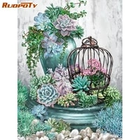 ruopoty frame diy painting by numbers flowers acrylic coloring by number kits oil paint by numbers for home decors gift